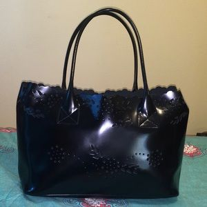 NEW! Furla Leather Cut-Out Tote With Snap-in Bag!